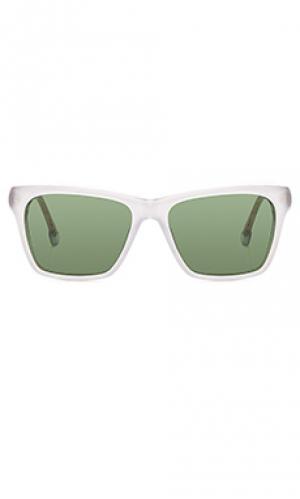 Солнцезащитные очки pelton Steven Alan. Цвет: белый