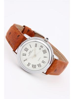 Часы на ремне IBSO. Цвет: серебристый, рыжий