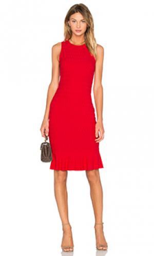 Платье honeycomb twenty. Цвет: красный