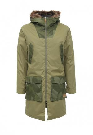 Куртка утепленная CLWR. Цвет: зеленый