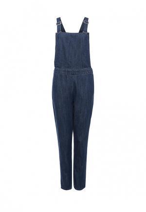 Комбинезон джинсовый LOST INK. Цвет: синий