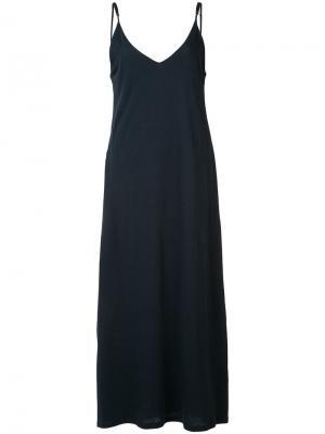 Длинное платье-комбинация Organic By John Patrick. Цвет: синий