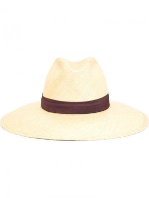Шляпа с контрастной лентой Super Duper Hats. Цвет: телесный