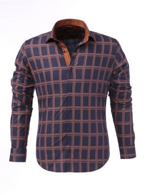 Рубашка BAWER. Цвет: коричневый