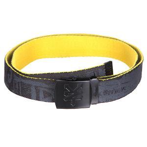Ремень  Strips Belt Washed Black Zoo York. Цвет: желтый,серый