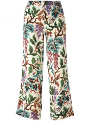 Укороченные брюки с рисунком Philosophy Di Lorenzo Serafini. Цвет: телесный