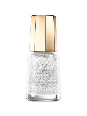 Лак для ногтей тон 141 Искрящийся Снег Mavala. Цвет: серебристый