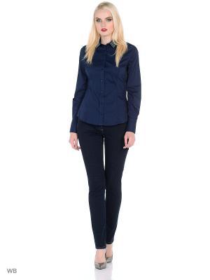 Блузка Trussardi. Цвет: темно-синий