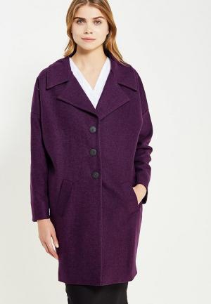 Пальто 9fashion Woman. Цвет: фиолетовый