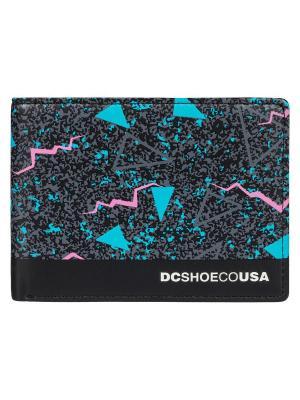 Кошелек DC Shoes. Цвет: черный,бирюзовый,розовый