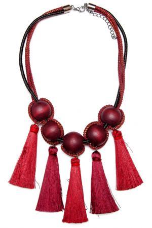 Колье Asavi Jewel. Цвет: бордовый, черный, золотой