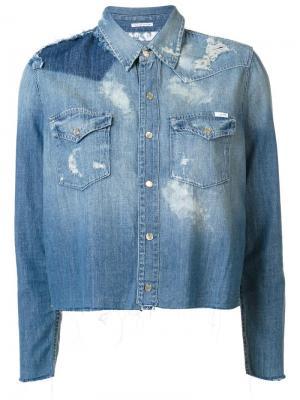 Джинсовая рубашка All Broke Down Mother. Цвет: синий