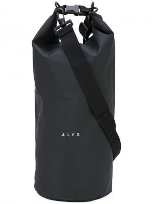 Объемная сумка на плечо с логотипом Alyx. Цвет: чёрный