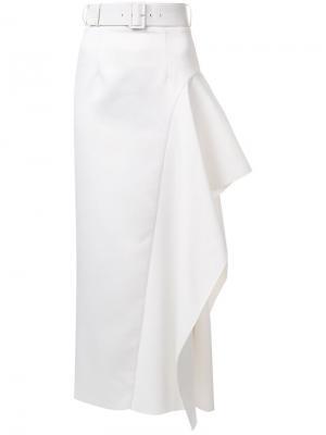 Длинная юбка Kaya Solace. Цвет: белый