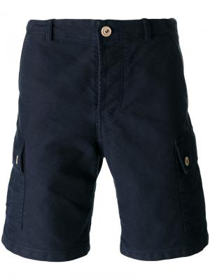 Шорты-карго с карманом сзади Bleu De Paname. Цвет: синий