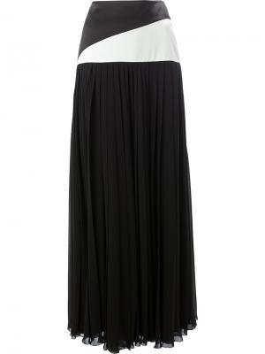 Плиссированная юбка-макси Lanvin. Цвет: чёрный
