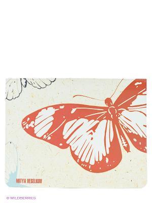 Чехол для IPad, Цветные бабочки Mitya Veselkov. Цвет: белый, красный