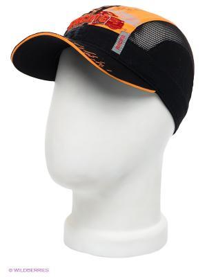Бейсболка Maxval. Цвет: черный, красный, оранжевый