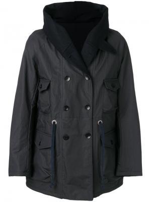 Пальто с воротником шалька East Harbour Surplus. Цвет: синий
