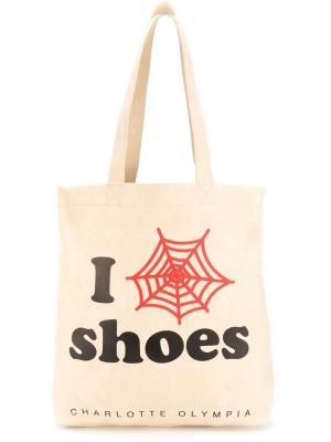 Сумка-шоппер I Shoes Charlotte Olympia. Цвет: телесный