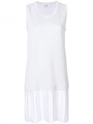 Плиссированное многослойное платье Dondup. Цвет: белый