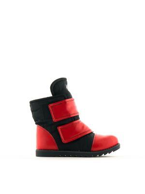 Ботинки AZ-ART. Цвет: черный, красный
