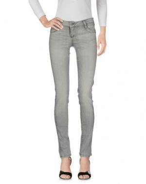 Джинсовые брюки BLEULAB. Цвет: светло-серый