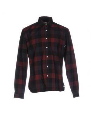 Pубашка OLIVER SPENCER. Цвет: красно-коричневый