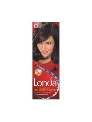 Крем-краска для волос стойкая 14 Светлый шатен LONDA. Цвет: красный