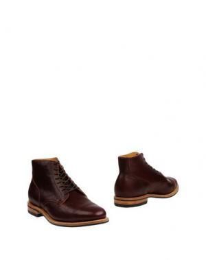 Полусапоги и высокие ботинки VIBERG. Цвет: баклажанный