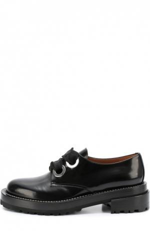 Лаковые ботинки на шнуровке Marni. Цвет: черный