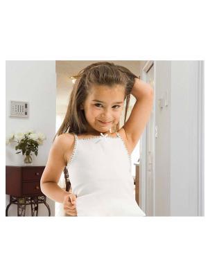 Комплект майка и трусики для девочек Oztas kids' underwear. Цвет: белый