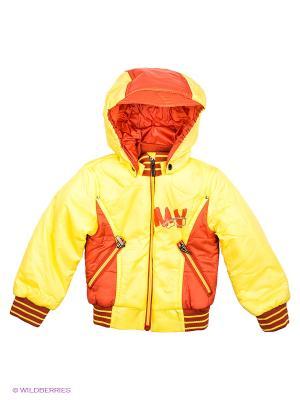 Куртка Ники Аксарт. Цвет: желтый