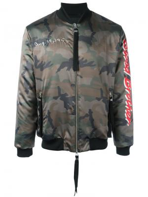 Куртка-бомбер Loyal Blood Brother. Цвет: зелёный