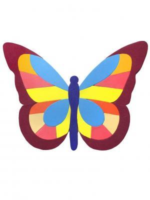 Аппликация Бабочка Санта Лючия. Цвет: синий, белый