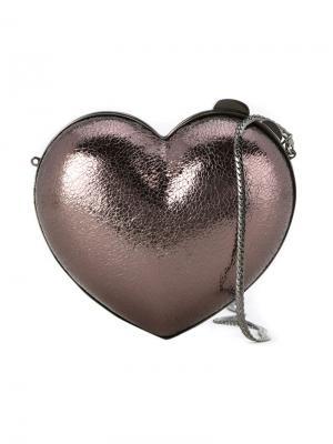 Клатч в форме сердца Serpui. Цвет: металлический