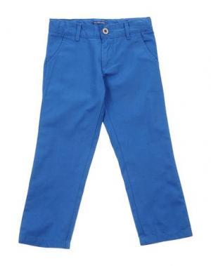 Повседневные брюки COTTON BELT. Цвет: лазурный