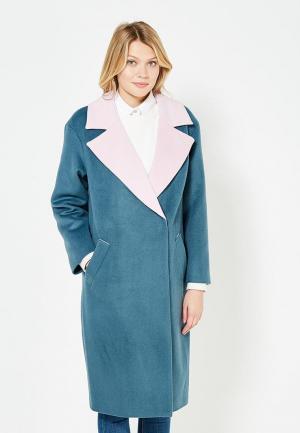 Пальто TrendyAngel. Цвет: бирюзовый