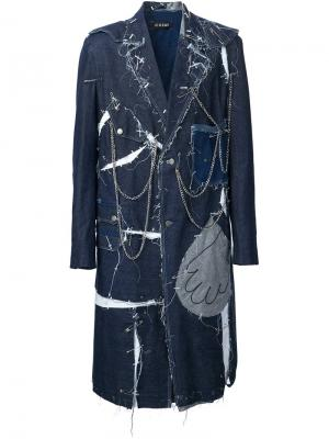 Пальто Jean Couture Icosae. Цвет: синий