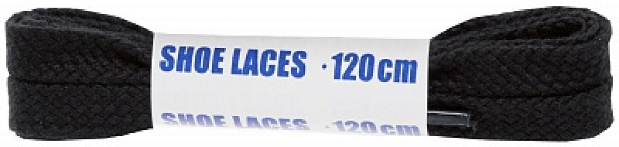 Шнурки черные плоские  Sport, 120 см Woly. Цвет: черный