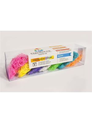 Комплект резинок для плетения №11, 2000 шт. Радужки. Цвет: светло-зеленый, белый, голубой, желтый, оранжевый, розовый, фиолетовый