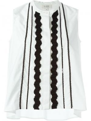 Рубашка без рукавов Isa Arfen. Цвет: белый