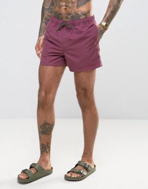 ASOS Сливовые шорты для плавания средней длины. Цвет: фиолетовый
