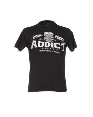 Футболка ADDICT. Цвет: черный