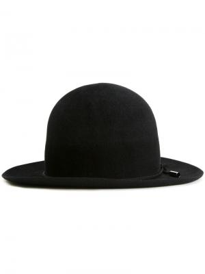 Фетровая шляпа-котелок Kijima Takayuki. Цвет: чёрный