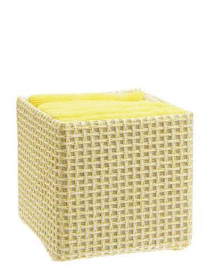 Набор полотенец в корзине Miolla. Цвет: желтый