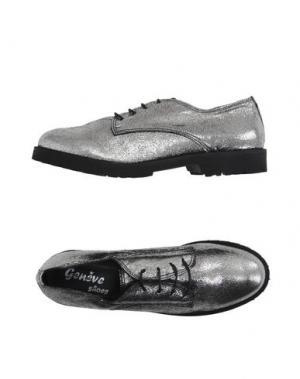 Обувь на шнурках GENEVE. Цвет: серебристый