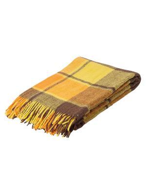 Плед Пиросмани РУНО. Цвет: желтый, темно-коричневый, оранжевый