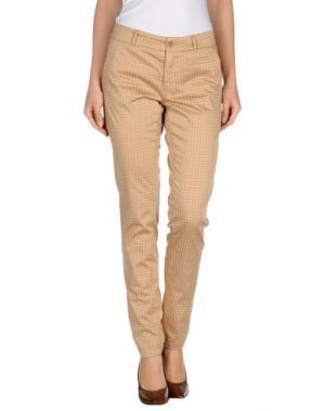 Повседневные брюки SOALLURE. Цвет: песочный