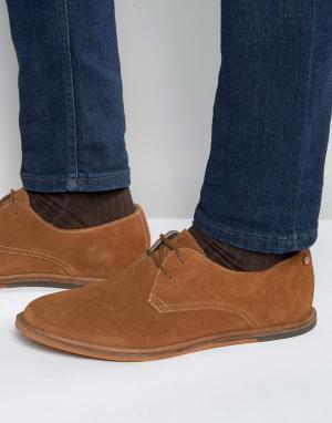 Frank Wright Светло-коричневые замшевые дерби Busby. Цвет: рыжий